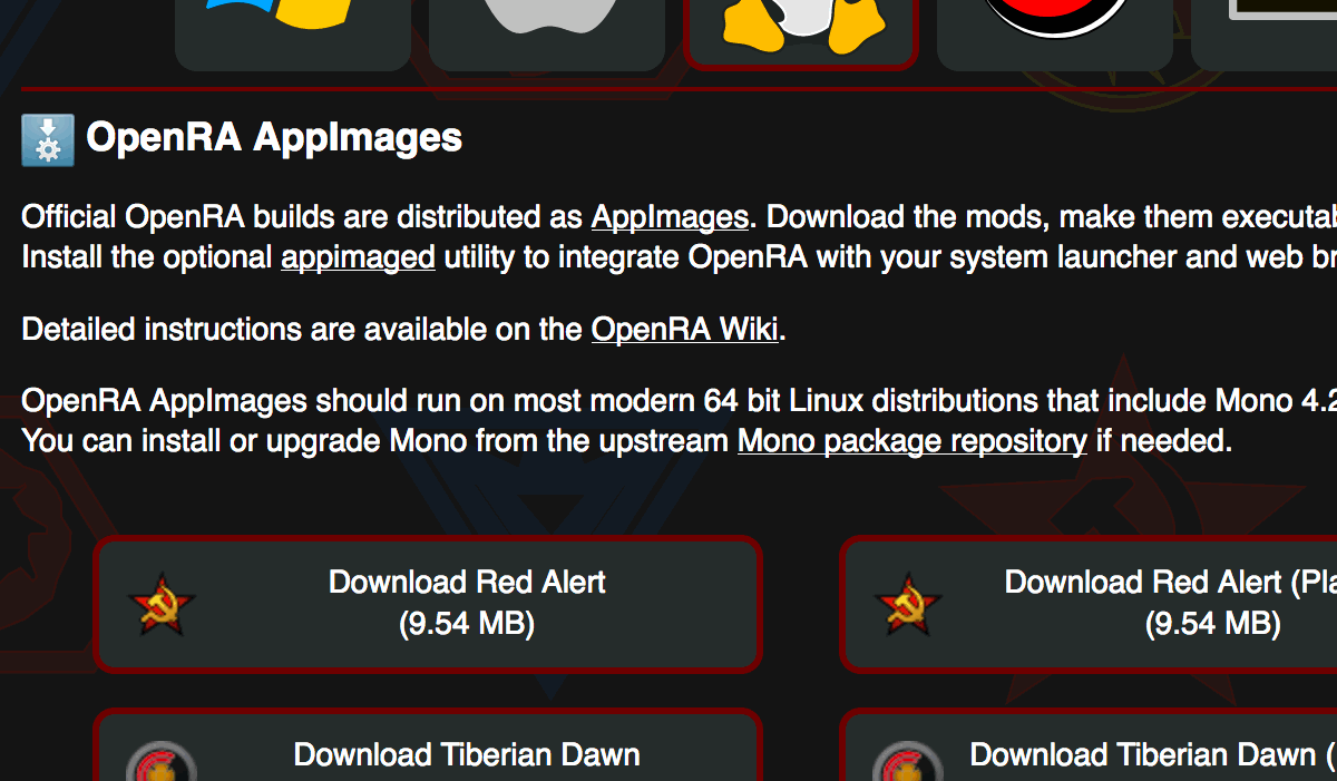 OpenRA Download page